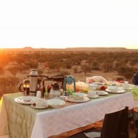 Camping South Nambia - Al fresco dinner